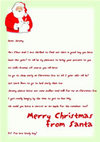 Free Letter from Santa Example 1